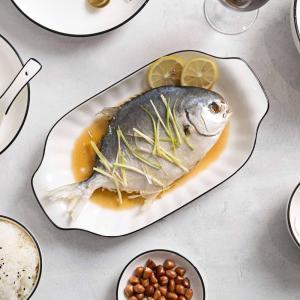Rectangle Ceramic Dinner Plates Fruit Fish Dish Sushi Plate Tableware Cake Salad Dishes China Plates Dinnerware White