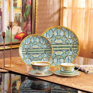 High-Grade Bone China Coffee Cup Fine Porcelain Black Tea Cup and Saucer Scala Tablewar Set Wedding and Housewarming Gifts