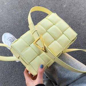Weave Flap Bags Square Crossbody bag 2020 New High quality PU Leather Women's Designer Handbag Travel Shoulder Messenger Bag