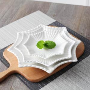 4 pcs/set Fashion Ceramics Octagonal Serving Dish Decorative Porcelain Dinner Plate Chinaware Tableware Pastry Salad Appetizer