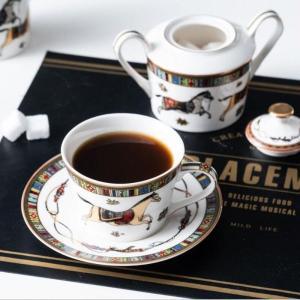 Horse Bone China Porcelain Coffee Mugs Dish Cups Coffee Milk Sugar Pot Optional