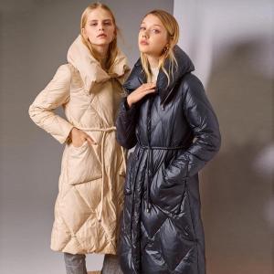 Janveny 90% White Duck Down Jacket Women Winter Coat Long Parka Female Thicken Warm Feather Down Coats Snow Outwear