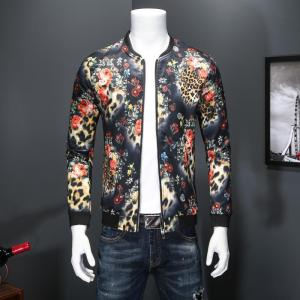 2019 new jacket loose men's bomber casual hip hop baseball collar print fashion clothes smooth streetwear dropshipping top coat