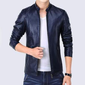 2019 New Arrival Spring Autumn Jackets Men Vintage Solid Faux Leather Coat Male Motorcycle Slim Fit Mens Windbreaker Outwear