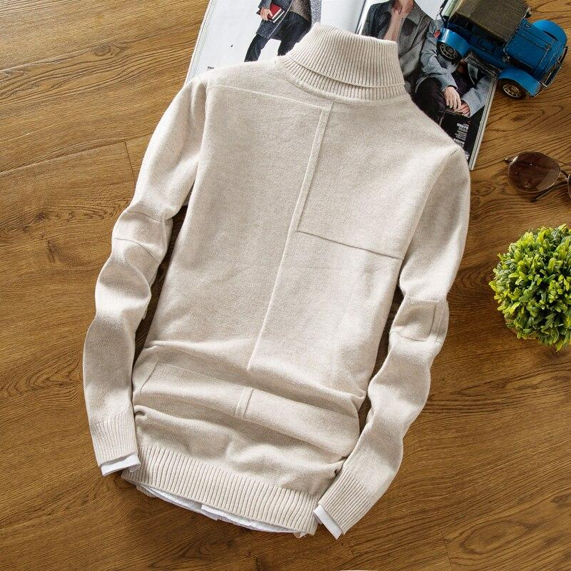 Winter Turtleneck Warm Sweater Men Turtleneck Brand Men Sweaters Slim Fit Pullover Men's Knit Male Double Neck NEW