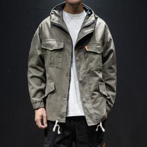 harajuku streetwear bomber jacket men Hooded jacket male jaqueta fashion outerwear coat hip hop hoodies mens clothing homme