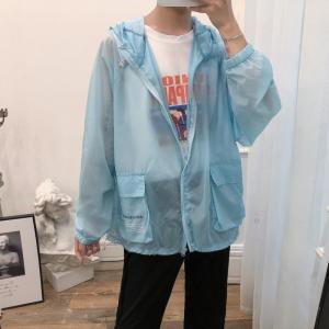 2019 New Summer Sun UV Protection Fashion Cargo Pocket Thin Coats Outdoor Clothing Quick-Drying Anti-UV Charge Hooded Jacket