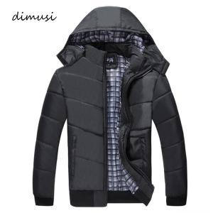 DIMUSI Winter Men Jacket Male Padded Coats Mens Causal Parkas Fahsion Coat Male Outwear Windbreaker Hoodies Clothing 4XL,TA281