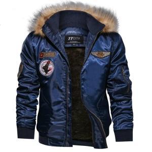 Brand Bomber Jacket Men Plus Size 4XL Thick Fleece Winter rmy Military Motorcycle Jacket Men's Pilot Jacket Coat Cargo Outerwear