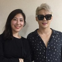 [OTHER INSTAGRAM] 160929 Kim Hye-sung shared a photo with Junsu, backstage of 'Dorian Gray'