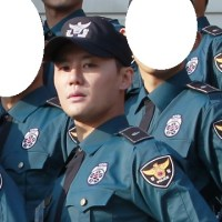 [HD PICS] 170322 Photos of Kim Junsu in 1084th unit's 2nd week of training at Conscripted Policemen Education Center