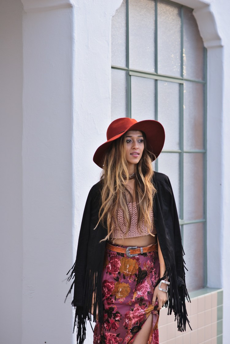 cuppajyo-sanfrancisco-fashion-lifestyle-blogger-velvet-petals-maxi-skirt-accents-crochet-fringe-jacket-bohochic-2