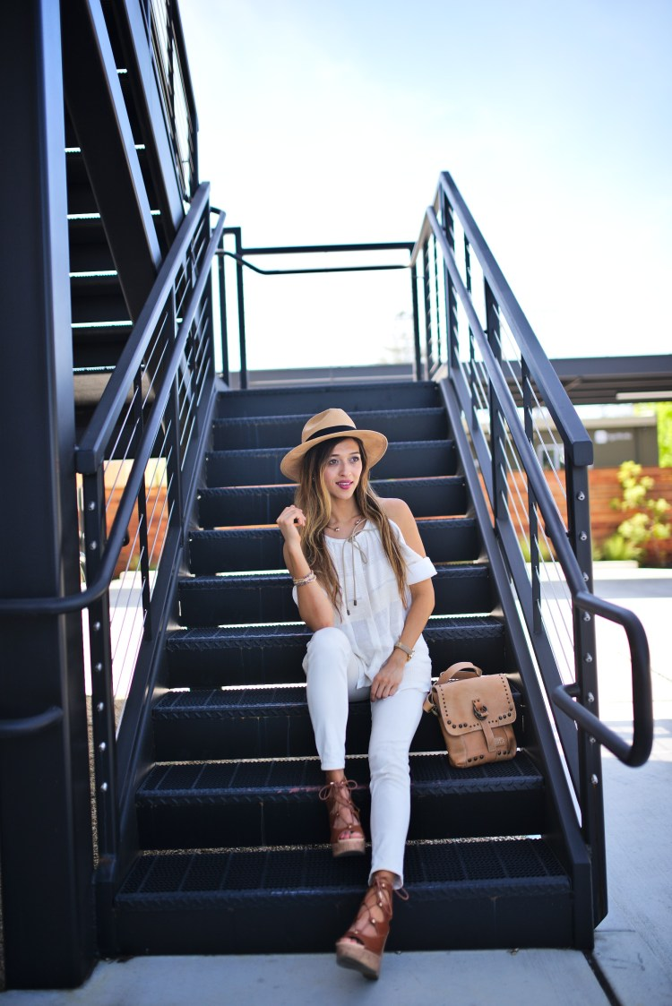 cuppajyo-sanfrancisco-fashion-lifestyle-blogger-bailey44-fancyfedora-weekendstyle-coldshoulder-whiteonwhite-2