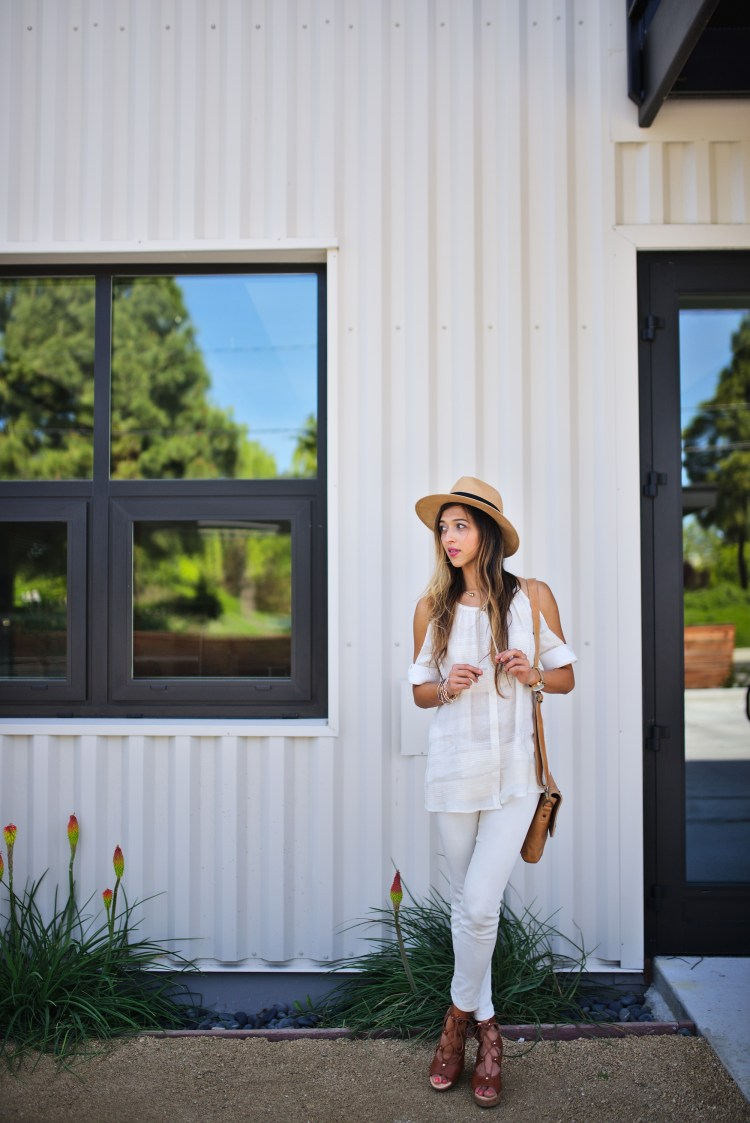 cuppajyo-sanfrancisco-fashion-lifestyle-blogger-bailey44-fancyfedora-weekendstyle-coldshoulder-whiteonwhite-4