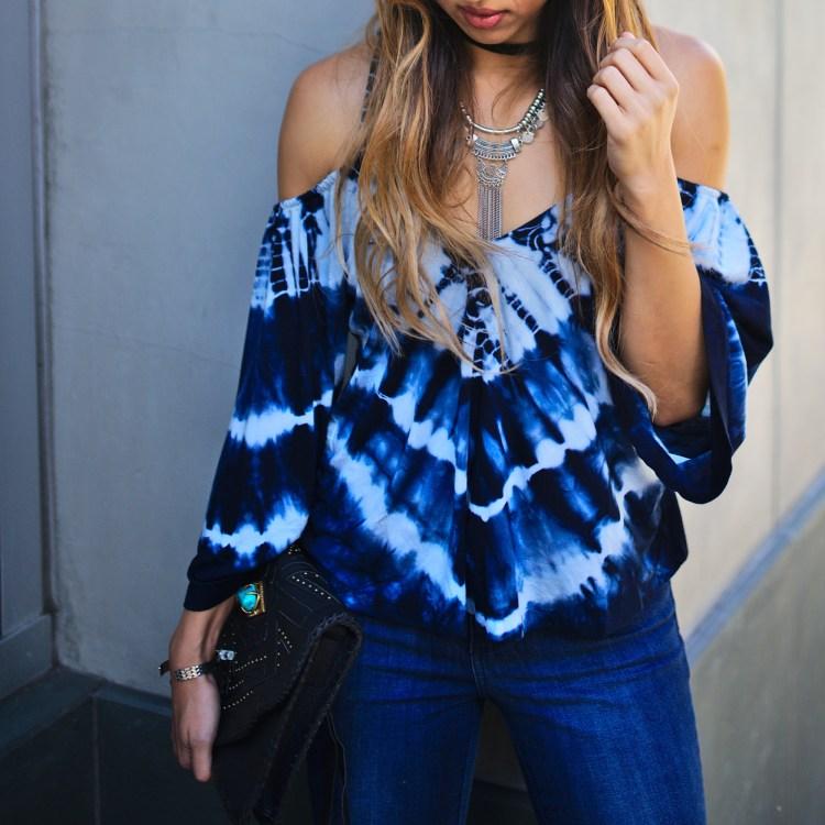 cuppajyo_sanfrancisco_styleblogger_fashion_lifestyle_streetstyle_fallfashion_gypsy05_tiedye_coldshoulder_mottandbow_otkboots_cleobella_bohochic_1