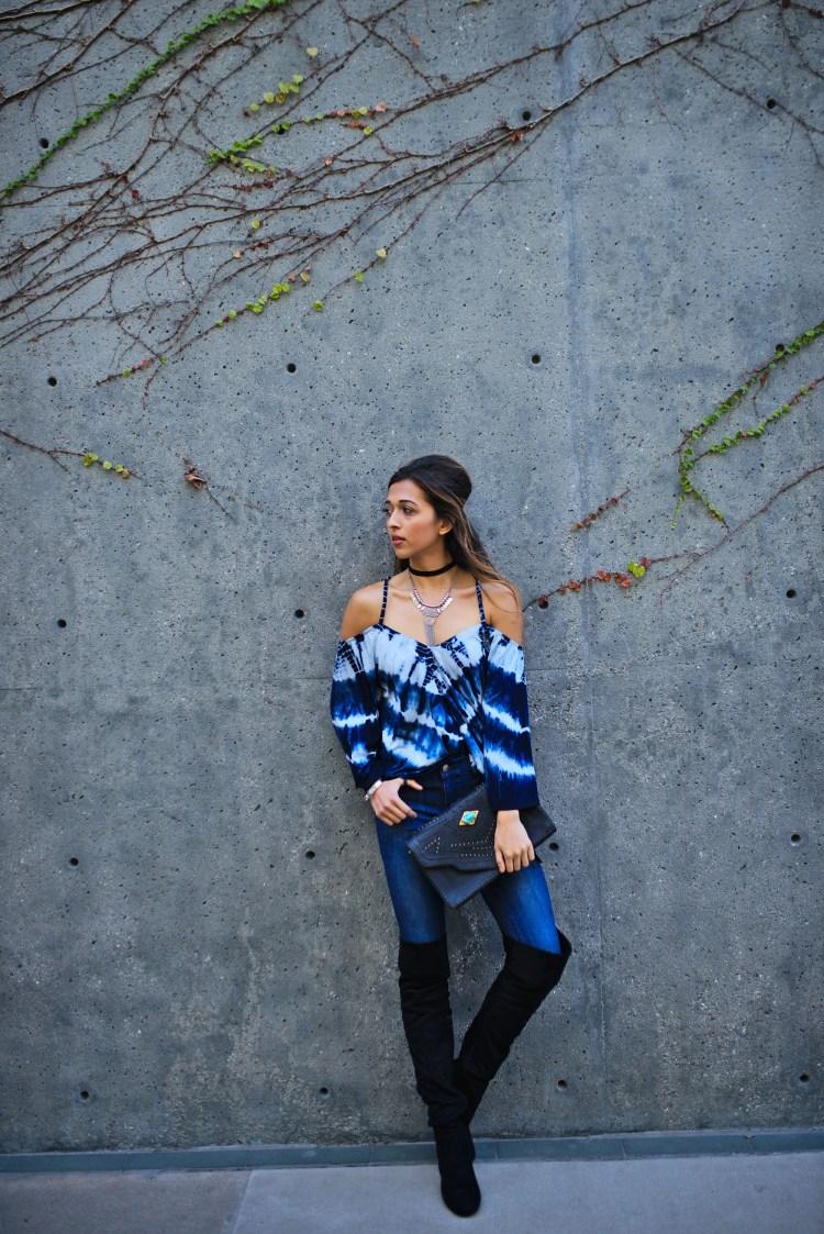 cuppajyo_sanfrancisco_styleblogger_fashion_lifestyle_streetstyle_fallfashion_gypsy05_tiedye_coldshoulder_mottandbow_otkboots_cleobella_bohochic_3