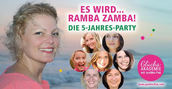 Das wird Ramba Zamba! Feierst du mir mir 5 Jahre Blog?