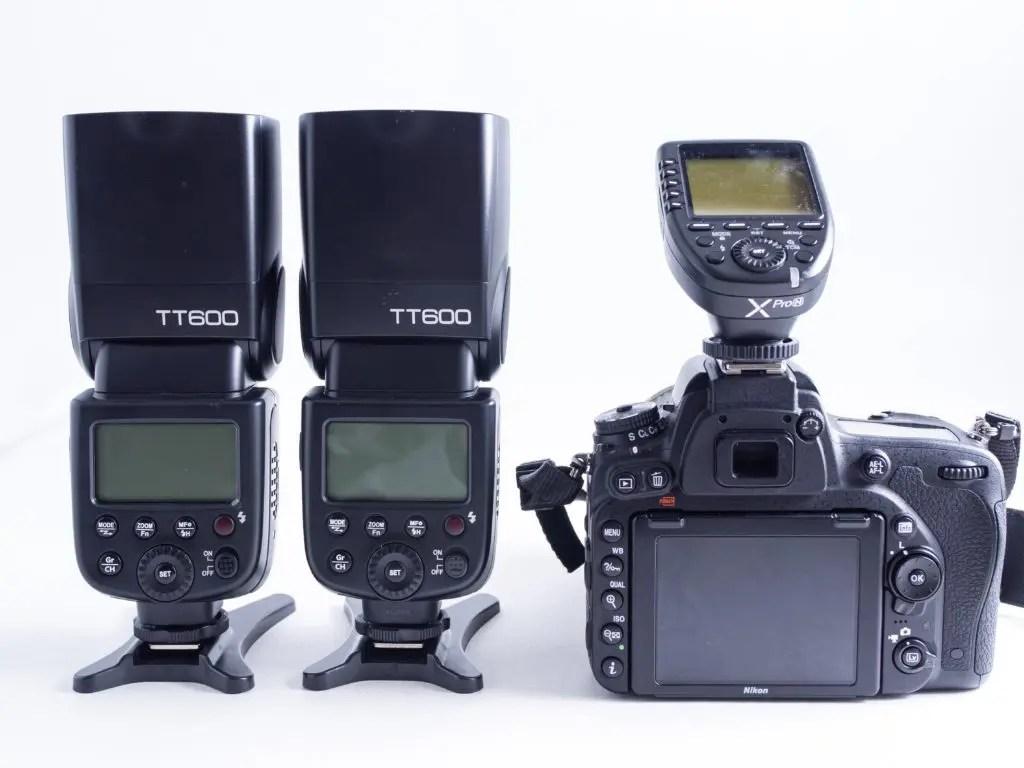 TT600なら3台+フラッシュトリガー