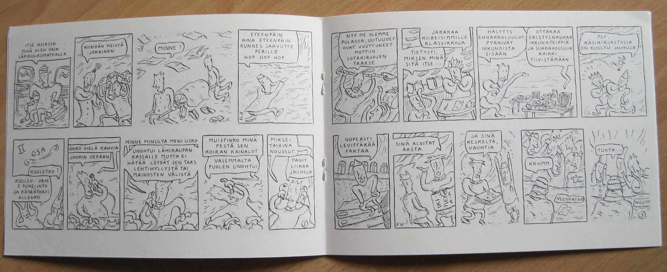 Ihan Tavallinen Kirjasto-uni, sivut 2 ja 3
