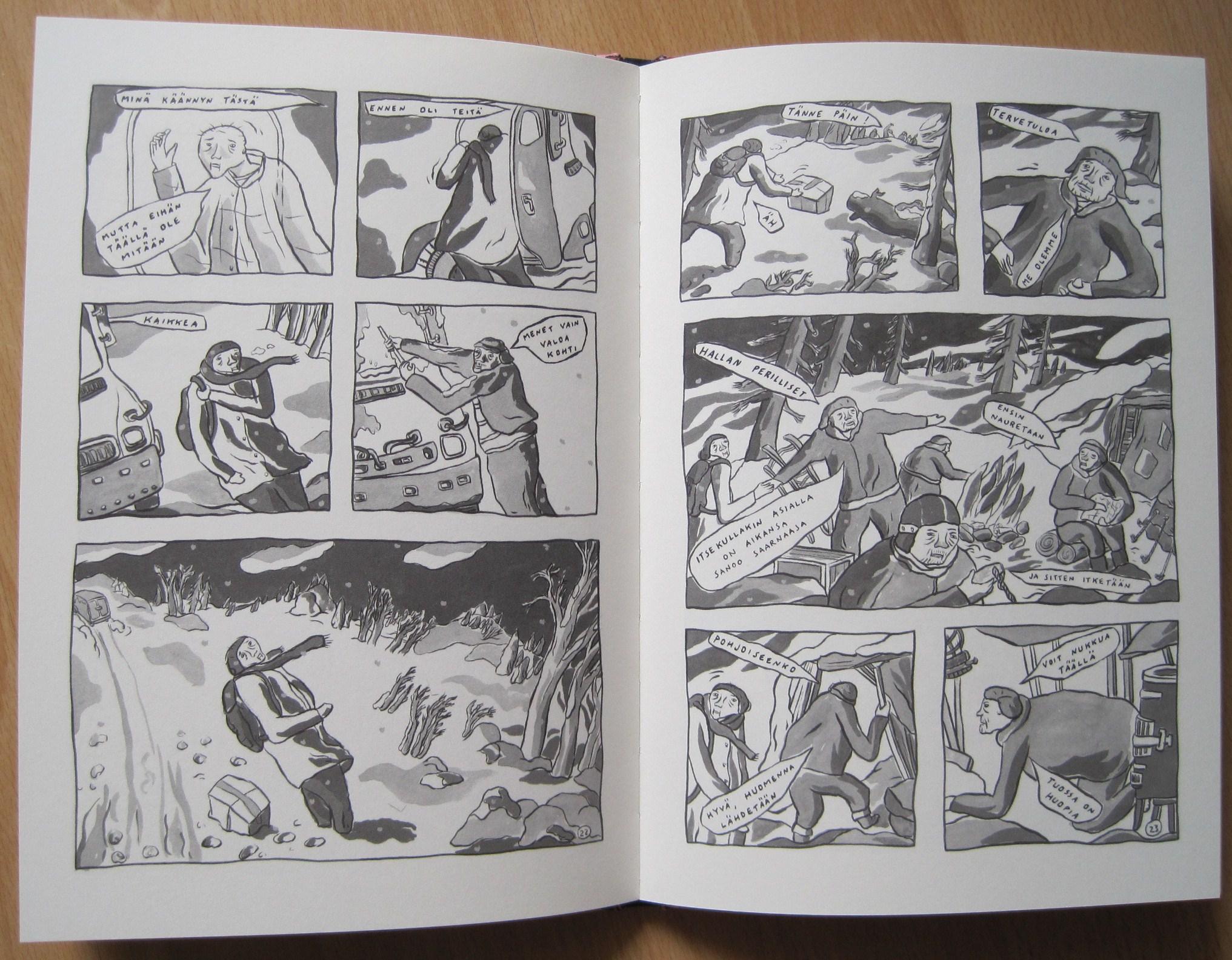 Punajäkälä, sivut 22 ja 23
