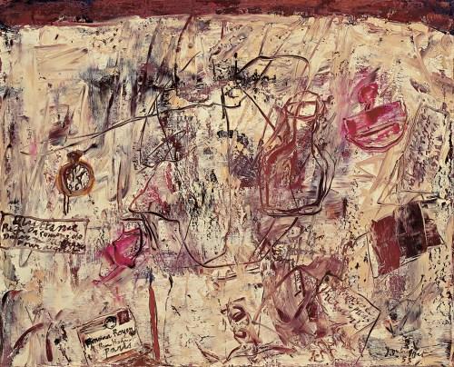 Jean Dubuffet, Lettre à M. Royer (désordre sur la table), 1953