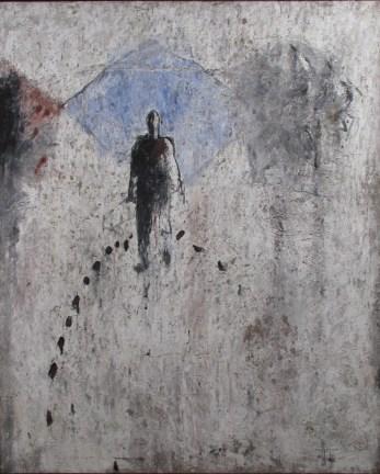 Mohamed KACIMI, Le rite, 1987, Huile sur toile, 160 x 130 cm, Collection de l'Académie Royale du Maroc