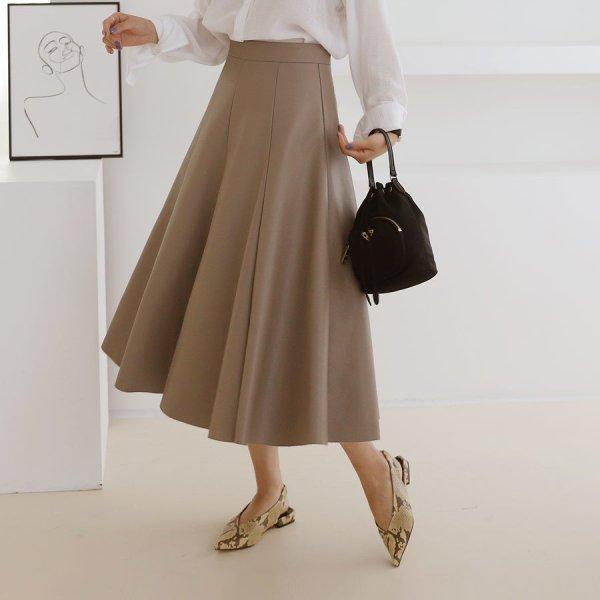 B-Leather Long Skirt