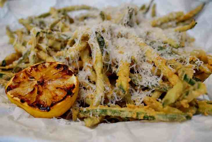 federal hill in bloom - zucchini fries
