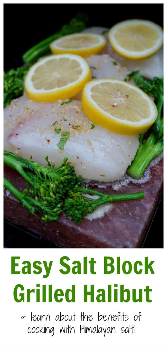 Halibut Grilled On A Himalayan Salt Block With Broccolini2