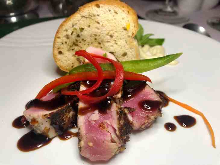 Seared Tuna at Couples Swept Away in Negril, Jamaica
