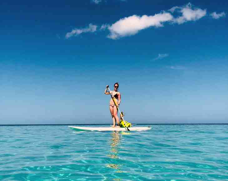 Paddle boarding in Negril, Jamaica