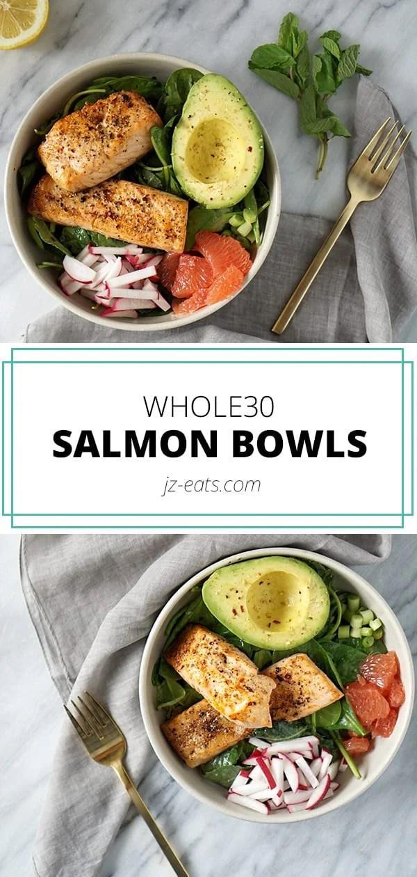 Whole30 salmon bowls long pin