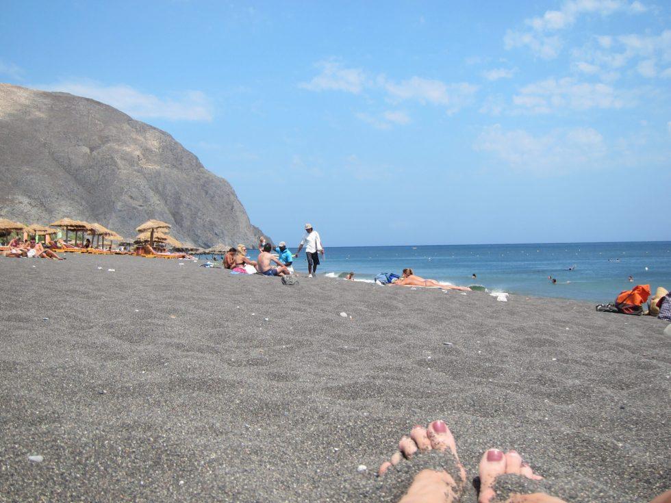 Santorini volcanic beaches