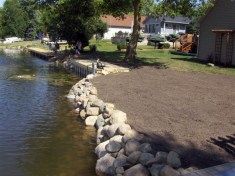 Boulder Sea Wall and Landscaping
