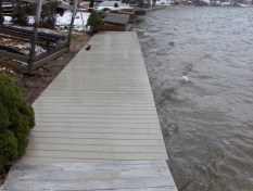 4' Boardwalk construction on vinyl sea wall