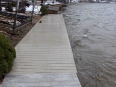 4' Boardwalk construction on vinyl sea wall