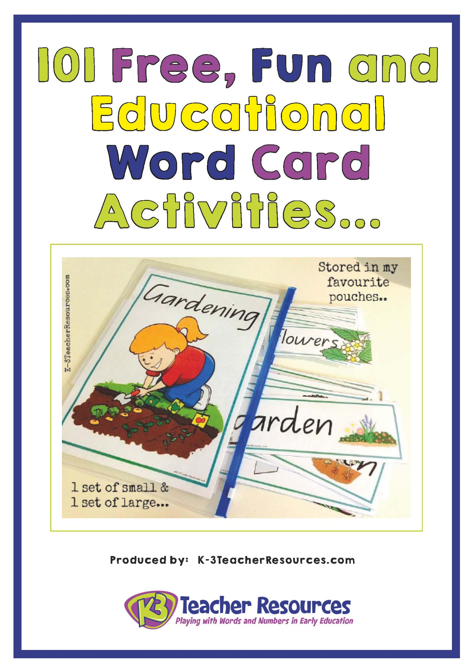 101 Fun And Educational Vocabulary Word Card Activities