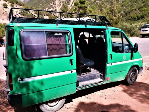 K in Motion Travel Blog. Southern Morocco and Western Sahara. Paradise Valley Green Taxi