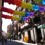 K in Motion Travel Blog. Shenanigans in Sunny Spain. Pride Decorations in Madrid