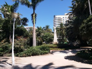 K in Motion Travel Blog. Shenanigans in Sunny Spain. Modest Malaga Inner City Park