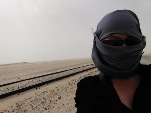 K in Motion Travel Blog. Ready for The Iron Train. Nouadhibou, Mauritania