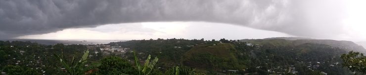 K in Motion Travel Blog. Spirits and Storms on the Solomon Islands. Storm Over Honiara