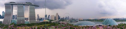 K in Motion Travel Blog. Superheroes and Supertrees in Singapore. Storm Rolling In