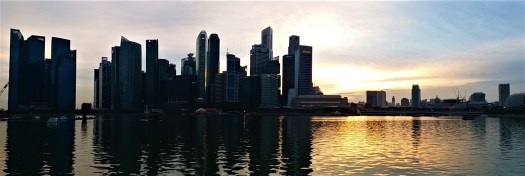 K in Motion Travel Blog. Petty Superheroes and Supertrees in Singapore. City Sunset
