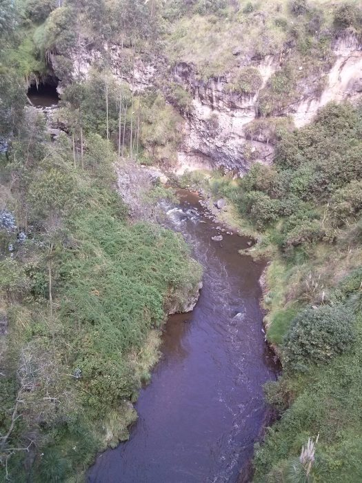 K in Motion Travel Blog. Ecuador - Journey to the Middle of the World. Rumichaca Border River