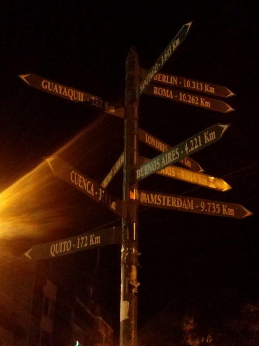 K in Motion Travel Blog. Baños - A Crazy Little Town in Ecuador. Night In Banos, Ecuador