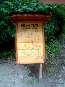K in Motion Travel Blog. Adventures In Southern Peru. Sign at the Start of the Hiking Trail From Aguas Calientes. Machu Picchu Pueblo to the Machu Picchu Ruins in the Andes, Peru
