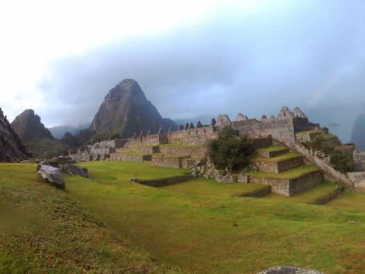 K in Motion Travel Blog. Machu Picchu, Rainbow to Ruins, in the Andes, Peru