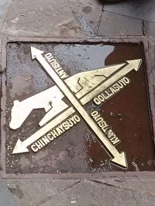 K in Motion Travel Blog. Tiger Pavement in the Andean Mountain Town of Cusco, Cuzco Peru