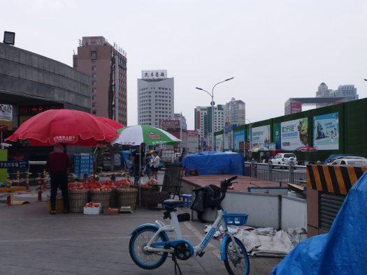 K in Motion Travel Blog. Journey to Kazakhstan via China. Yantai, Corner Market